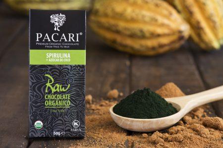 Chocolat CRU 70% + SPIRULINE au sucre de Coco